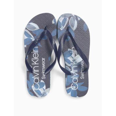Chinelo Swimwear Masc Est Floral - Azul Marinho