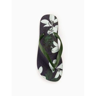 Chinelo Swimwear Masc Est Floral - Verde Militar
