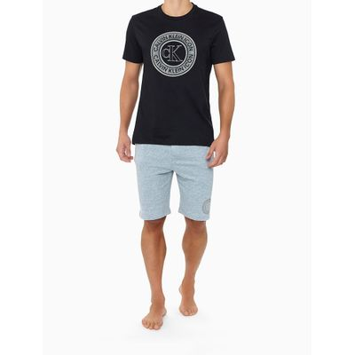 Camiseta Masculina Estampa Icon Preta Calvin Klein