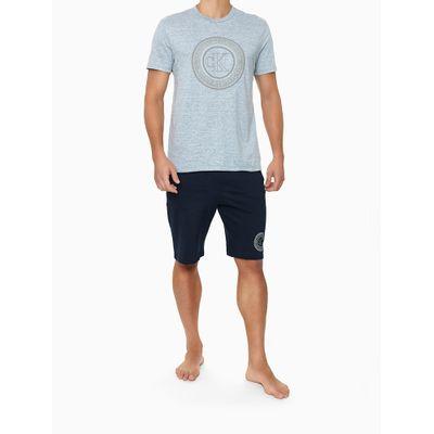 Camiseta Masculina Estampa Icon Cinza Mescla Calvin Klein