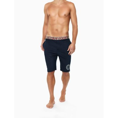 Bermuda Moletom Icon Cotton Loungewear - Azul Marinho