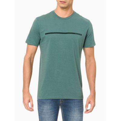 Camiseta Masculina Estampa Linha Verde Calvin Klein Jeans