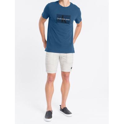 Camiseta Masculina Estampa Logo Azul Médio Calvin Klein Jeans
