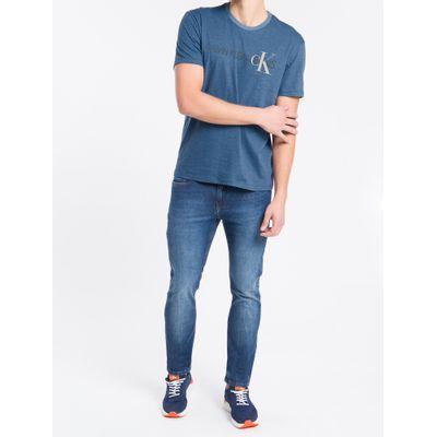 Camiseta Masculina Mescla Azul Médio Calvin Klein Jeans
