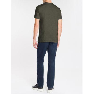 Camiseta Masculina Slim Flamê Verde Escuro Calvin Klein