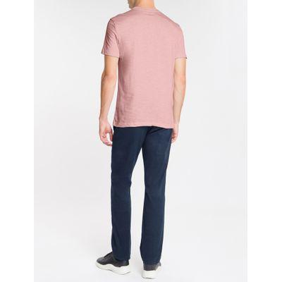 Camiseta Masculina Slim Flag Rosa Claro Calvin Klein