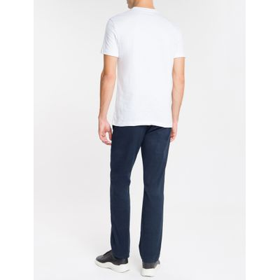 Camiseta Masculina Slim NYC Branca Calvin Klein