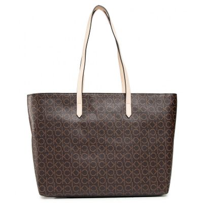 Bolsa Shopping Bag Monograma - Marrom