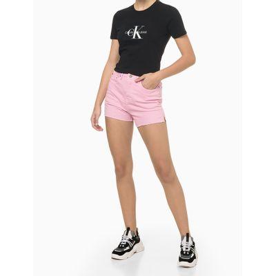 Blusa Feminina Estampa CK Preta Calvin Klein Jeans
