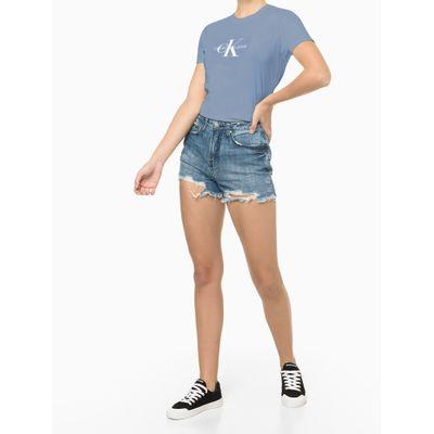 Blusa Feminina Estampa CK Lilás Calvin Klein Jeans