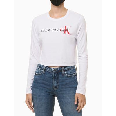Camiseta Ml Ckj Em Logo Ck Lateral - Branco