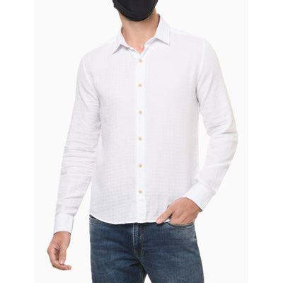 Camisa Ml Reg Maqui Exclu S Bols Amac - Branco