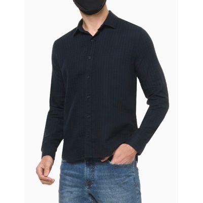 Camisa Ml Reg Maqui Exclu S Bols Amac - Azul Marinho