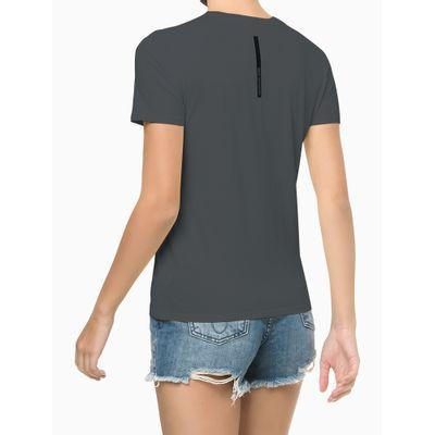 Blusa Feminina Estampa CK Chumbo Calvin Klein Jeans