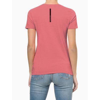 Blusa Feminina Estampa CK Rosa Calvin Klein Jeans