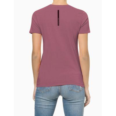 Blusa Feminina Estampa CK Roxa Calvin Klein Jeans