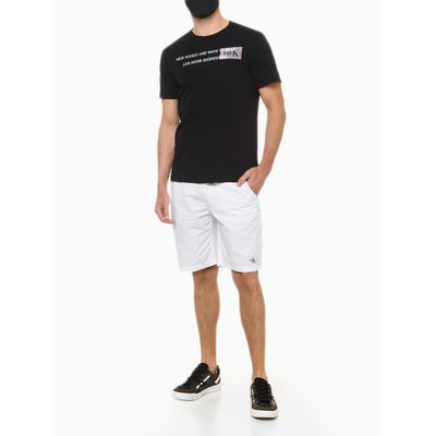 Camiseta Masculina Estampa Enjoy the Music Preta Calvin Klein