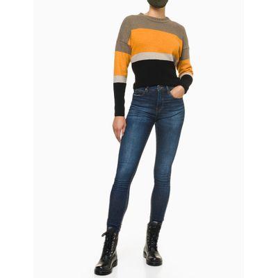 Calça Jeans Feminina Skinny Premium Cintura Alta Azul Médio Calvin Klein