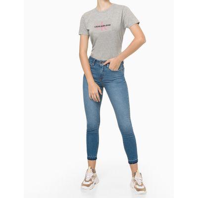 Camiseta Feminina Estampa CKJ Cinza Calvin Klein Jeans