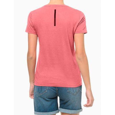 Blusa Feminina Slim Gola V Rosa Calvin Klein Jeans