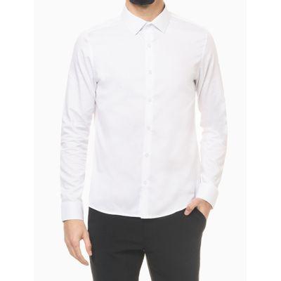 Camisa Ml Slim Fio 50/1 Listrado Surton - Branco