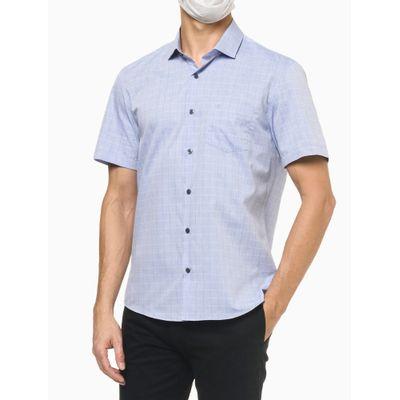 Camisa Mc Regular Xadrez Galles - Azul Claro