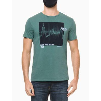 Camiseta Masculina Estampa Feel The Beat Verde Calvin Klein Jeans