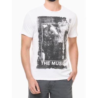 Camiseta Masculina Estampa The Music Branca Calvin Klein Jeans
