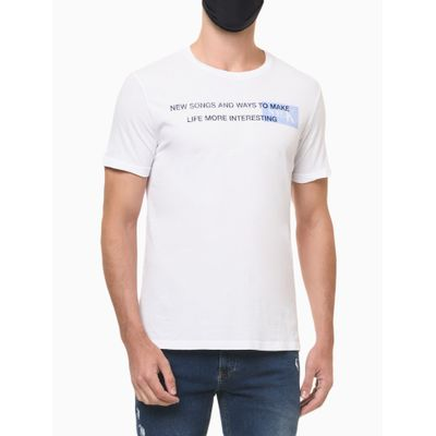 Camiseta Mc Regular Silk Meia Reat Gc - Branco