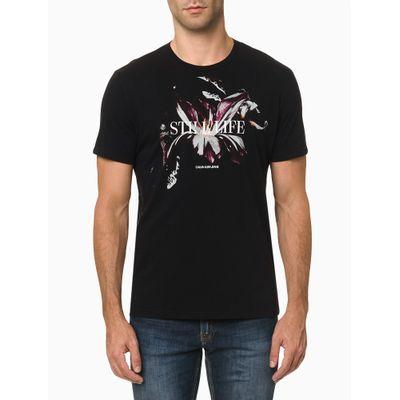 Camiseta Mc Ckj Masc Still Life - Preto