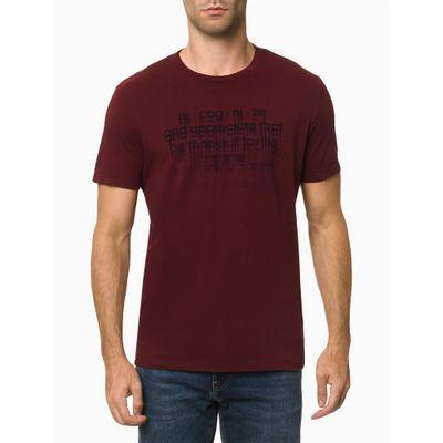 Camiseta Mc Ckj Masc Recognize - Bordô