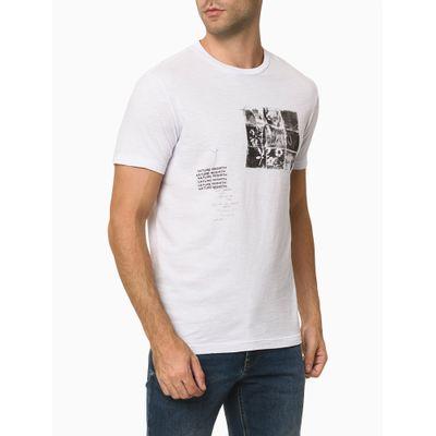 Camiseta Masculina Estampa Nature Rebirth Branca Calvin Klein Jeans