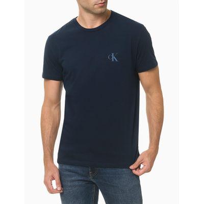 Camiseta Masculina Logo no Peito Preta Calvin Klein Jeans