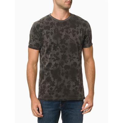 Camiseta Mc Ckj Masc Dusty Flower - Chumbo