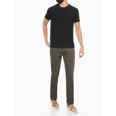 Camiseta Slim Lisa Bolso - Preto