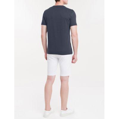 T-Shirt Slim Mouline - Azul Marinho