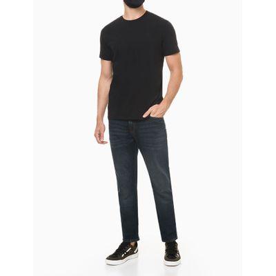 Camiseta Masculina Estampa nas Costas Ômega Preta Calvin Klein Jeans