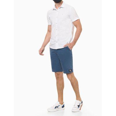Camisa Mc Reg F Liso S Bols Amac - Branco