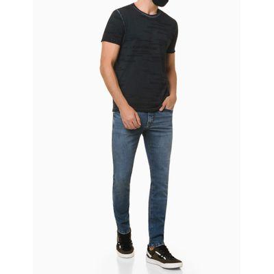 Camiseta Masculina Estampa Logo Mania Azul Marinho Calvin Klein