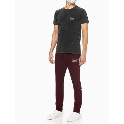 Camiseta Masculina Estonada Chumbo Calvin Klein Jeans