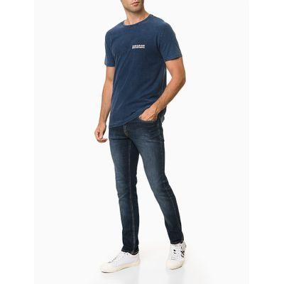 Camiseta Mc Ckj Masc Calvin Espelhado - Azul Médio