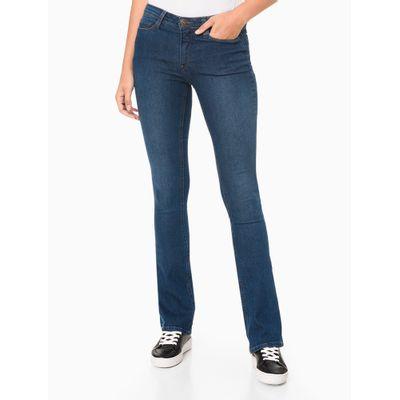 Calça Jeans Feminina Five Pockets Skinny Kick Flare Azul Médio Calvin Klein Jeans