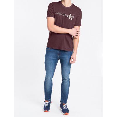 Camiseta Masculina Mescla Bordô Calvin Klein Jeans