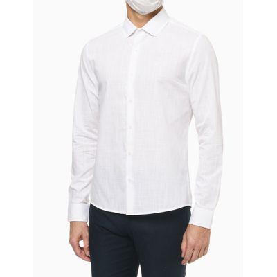 Camisa Ml Slim Flamê - Branco