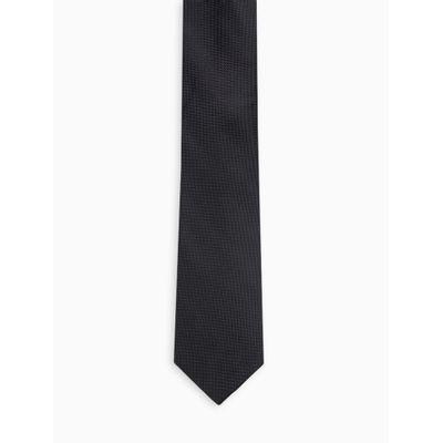 Gravata Slim  Textura Diagonal - Preto