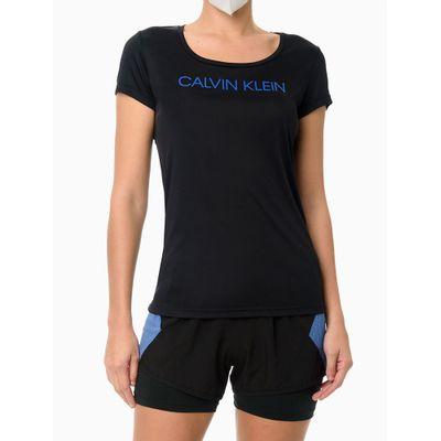 Camiseta Feminina Recorte Traseiro Performance - Preto