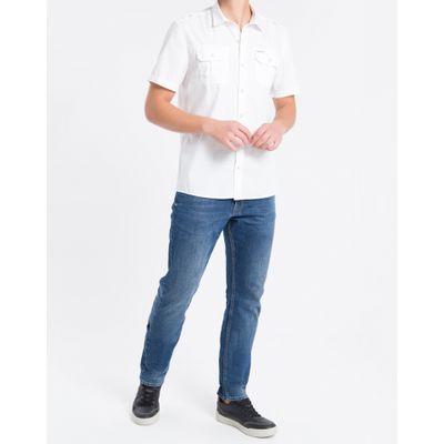 Camisa Mc Reg Liso Utilit Reat Amac - Branco