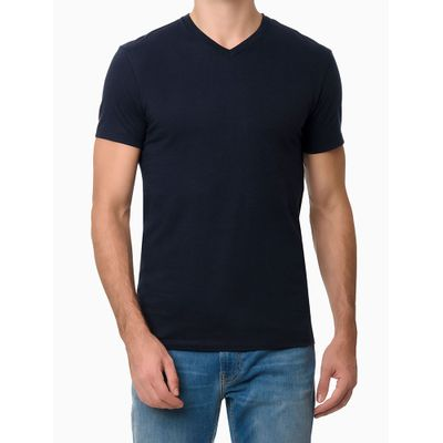 Camiseta Masculina Gola V Essentials Azul Marinho Calvin Klein Jeans