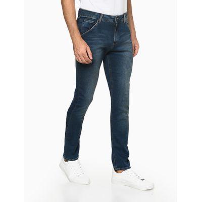Calça Jeans Masculina Athletic Taper Moletom Azul Marinho Calvin Klein