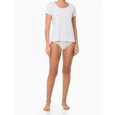 Kit 2 Camisetas M/C Meia Malha - Branco